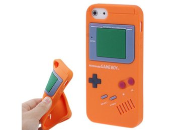 iPhone 5/5S Silikonskal Game Boy Orange