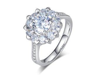 Ring Promise Anniversary 1 Ct Simulated Diamond size 8
