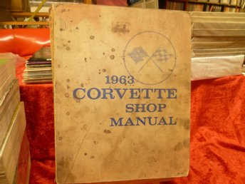 1963 Chevrolet Corvette , Shop Manual , (Verkstadshandbok) Original Bok