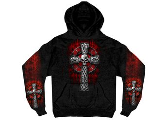 Celtic Cross Pocket Hoodie XXXL.