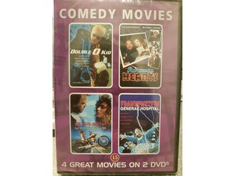 COMEDY MOVIES  4 st. KOMEDIFILMER , 2st. DVD , NY INPLASTAD