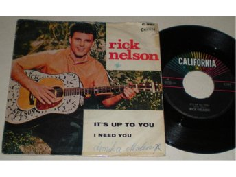 Rick Nelson 45/PS It´s up to you 1962