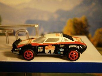"""LANCIA Stratos Nr 4 """" San Remo 1978 med gummidäck. Schuco - Norrtälje - LANCIA Stratos Nr 4 """" San Remo 1978 med gummidäck. Schuco - Norrtälje"""