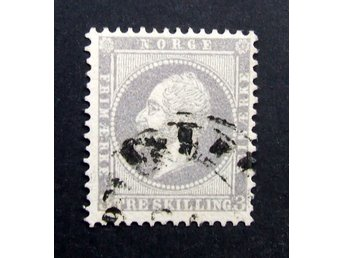 Michel Nr 3 Norway 1856  Very Fine
