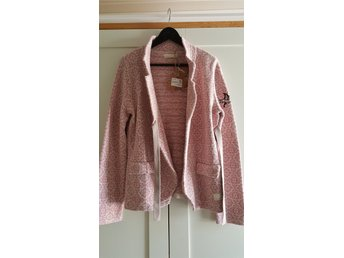 "Odd Molly ""Dark Rose"" Lovely Knit Bomull Kofta Cardigan Rosa Vit Strl 3 L   NY !"