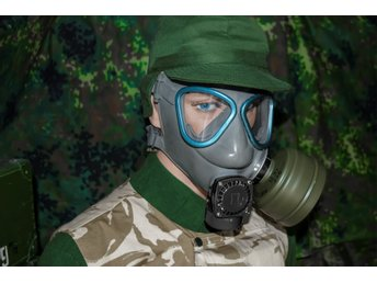 Finska Försvarets GASMASK M-61, NATO M9 style, With Bag + Filter (NEW)