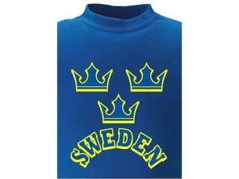 T-SHIRT Sweden med kronor nr 102  X-large Blå