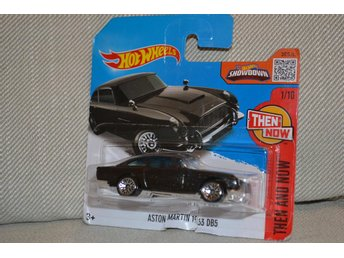 Aston Martin 1963 DB5 Hot Wheels 2016 Then and Now 1/10 Svart Ny