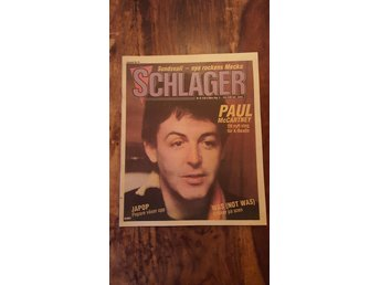 Schlager / Nr 37 1982 / Paul McCartney / Japop