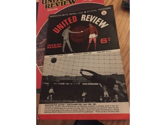 FOTBOLL Program Manchester United FC v Aston Villa 29/4 1967 George Best