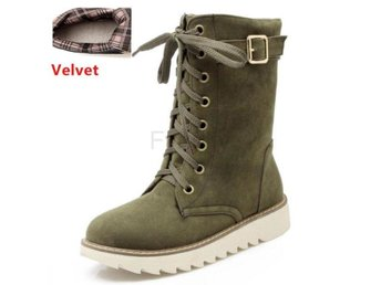Dam Boots Shoes Thick Fur Women Footwears green velvet 34