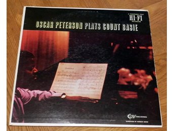 OSCAR PETERSON Plays Count Basie RARE Clef Buddy Rich 1958
