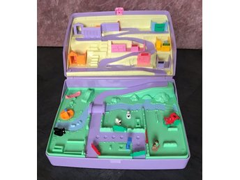 Stor polly pocket låda Farm, jewel case, bluebird 1989