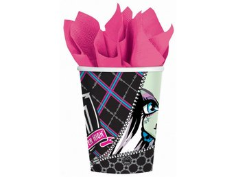 MONSTER HIGH Pappmuggar 8st  till Barnkalas muggar glas Monsters