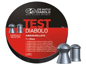 JSB Exact Test, 7olika kulor 4,5mm