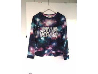 Fin tröja H&M Star Wars paljetter glitter rymden blå rosa lila svart - Västra Frölunda - Fin tröja H&M Star Wars paljetter glitter rymden blå rosa lila svart - Västra Frölunda