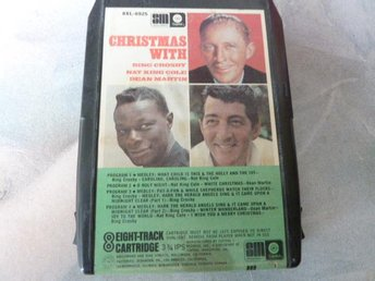 CHRISTMAS WITH BING CROSBY, NAT KING COLE & DEAN MARTIN,   KASSETTBAND, 8-TRACK