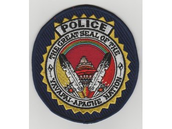 THE GREAT SEAL OF THE YAVAPAI APACHE NATION POLICE PATCH