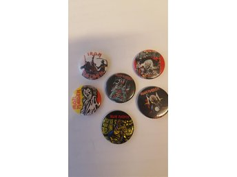 Iron Maiden 80's metal pins