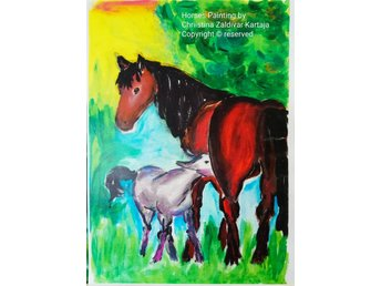 Horses Painting by Chriistina Zaldivar Kartaja Copyright © reserved