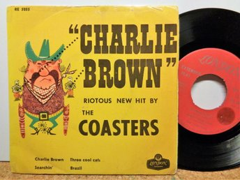 THE COASTERS: CHARLIE BROWN+3. LONDON RE 5055. SW-PRESS.