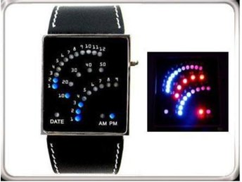 Koreanska!COOL Klocka 29 LED Ljus Armbandsur + Box