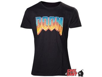 Doom Vintage Logo T-shirt Svart (Small)