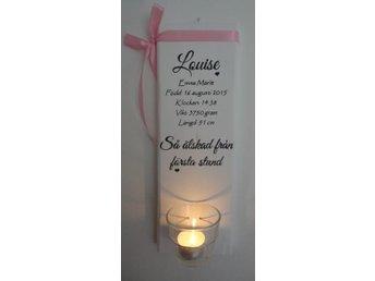 Shabby chic lantlig dop/födelse väggordsljuslykta - Hemse - Shabby chic lantlig dop/födelse väggordsljuslykta - Hemse