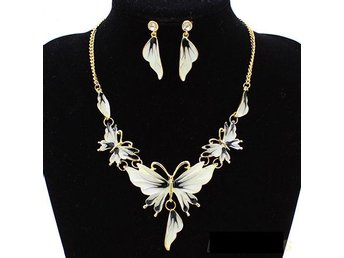 Black White GP Enamel Fringe SET