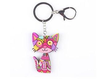 Katt Nyckelring Rosa Flerfärgad Multicolor Acry.. (290832904) ᐈ Köp ... 0f39efaaca765