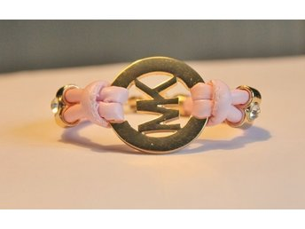"Läckert armband,rosa "" for a lady"""