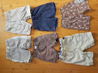 Stort paket shorts stl 74 PoP Polarn