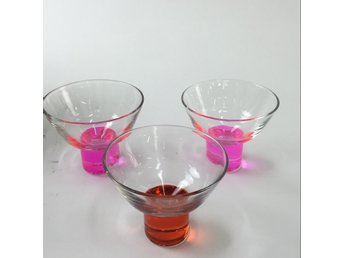 Drinkglas, 3 St, Transparent/Rosa/Brun