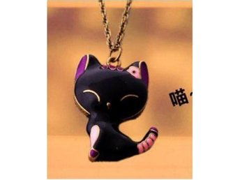 Cute Cat Shape Pendant Halsband  (Wn36)