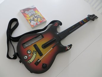 GUITAR HERO Gitarr med spelet GUITAR HERO World tour till NINTENDO Wii. - Linköping - GUITAR HERO Gitarr med spelet GUITAR HERO World tour till NINTENDO Wii. - Linköping