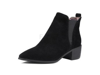Dam Boots Boot Elastic Office Fashion Female Botas Black 34