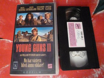 YOUNG GUNS 2, VHS, SVENSK TEXT, VÄSTERN, FILM, 100 MIN.