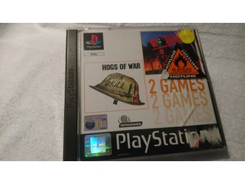 Hogs of War + Worms PS1 Playstation 1 PSone