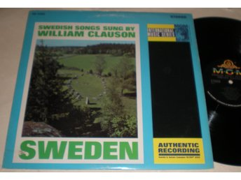 William Clauson LP Swedish Songs Sung By US 1965 VG++