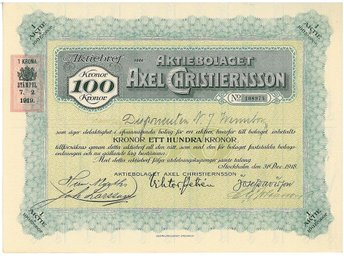 Axel Christiernsson AB - Stockholm - Axel Christiernsson AB - Stockholm