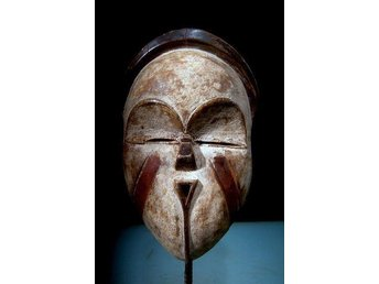 Afrikansk mask från Tsogofolket i Gabon i Afrika 27 cm - Vingåker - Afrikansk mask från Tsogofolket i Gabon i Afrika 27 cm - Vingåker