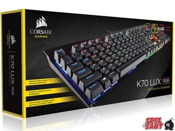 corsair gaming k70 lux rgb mechanical keyboard - cherry mx red