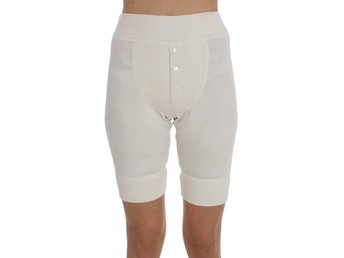 Dolce & Gabbana - White Ribbed Wool Underwear Shorts