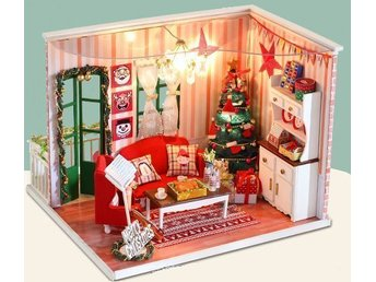 """I have a date with Christmas"" – Miniatyr dockskåp / dockhus DIY"