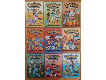 9 st Pokémon pokemon Advanced dvd-filmer film, mkt fint skick