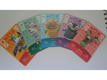 Animal Crossing Amiibo Cards series 4 Nr 336, 338 - 341