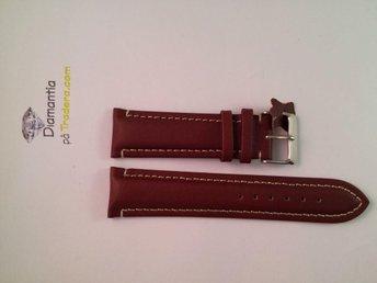 22 mm -- NYTT -- klockarmband i äkta läder -- Brun röd -- skinn armband brunt - Boliden - 22 mm -- NYTT -- klockarmband i äkta läder -- Brun röd -- skinn armband brunt - Boliden