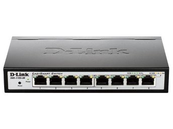 D-Link DGS-1100-08 8-Port Gigabit Smart Switch