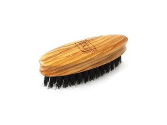 1541 Mini Beard & Moustache Brush Olivewood
