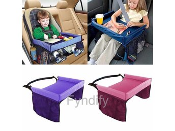 Kids Baby Car Seat Table  Svart